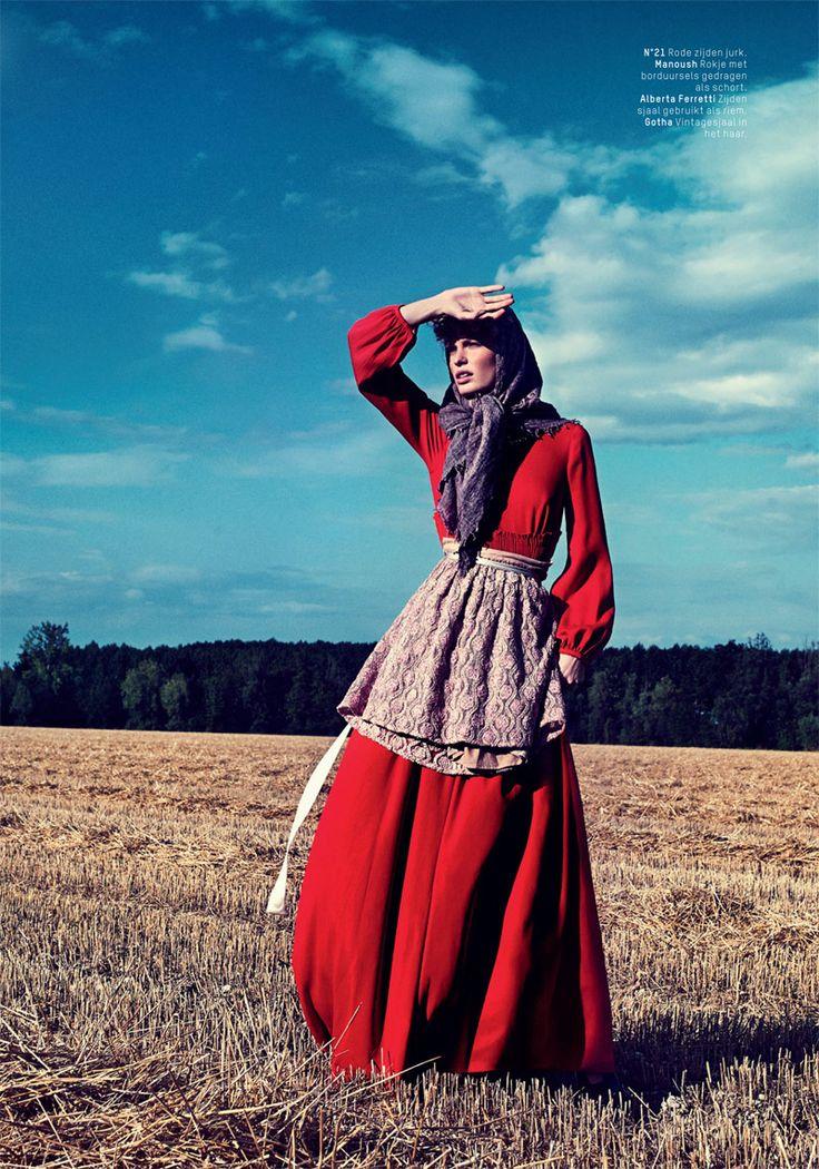Caroline Winberg for Philip Riches in L'Officiel Netherlands shoot