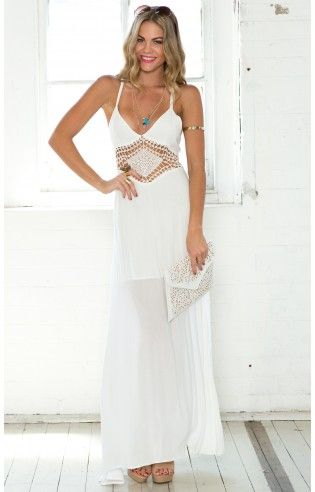 Exposure Maxi Dress in White