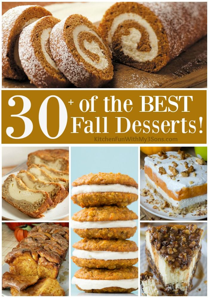Over 30 of the BEST Fall Dessert Recipes including Cake, Cookies, Bars, Bread, and more! All of these are delicious and very easy to make!