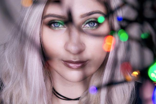 праздничный макияж для голубых глаз