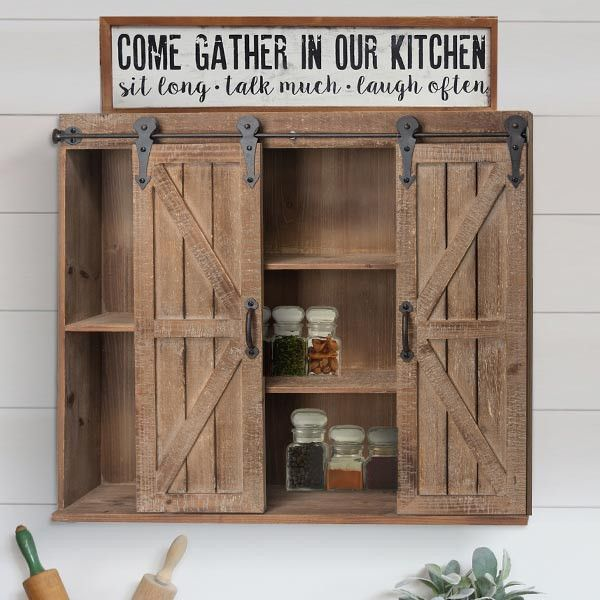Add A Charming Storage Option To Your Space With Our Sliding Barn Doors Storage Cabinet This Piece Can Be Hung Or Pl Barn Doors Sliding Barn Door Door Storage