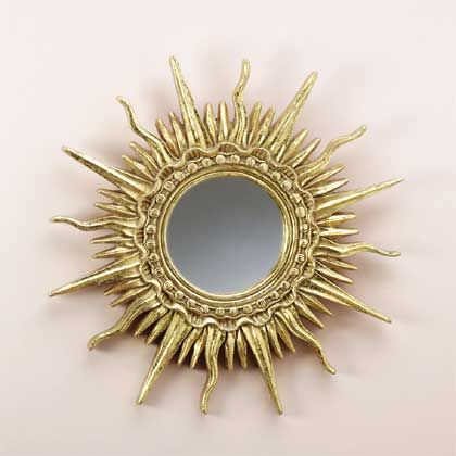 goads gold plated sun ray mirror