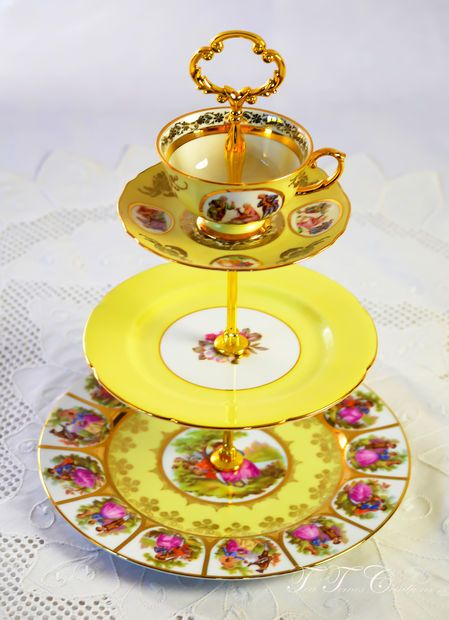 Picture of How to Make a 3 Tier Cake Stand Mad Hatter Style