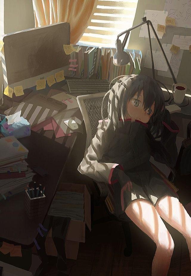She S Bored Rn Oof I Feel Ya Lol Kawaii Anime Anime Anime Characters