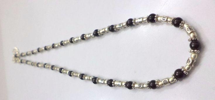 Black Onyx Necklace Gemstone 925 Silver Plated Handmade Jewelry Necklace G-634 #Handmade #Necklaces