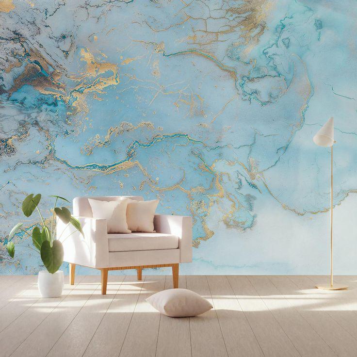 Wave Wallpaper Abstract Waves Wall Mural Nordic Art Wall Decor Modern Home Decor Living Room Bedroom