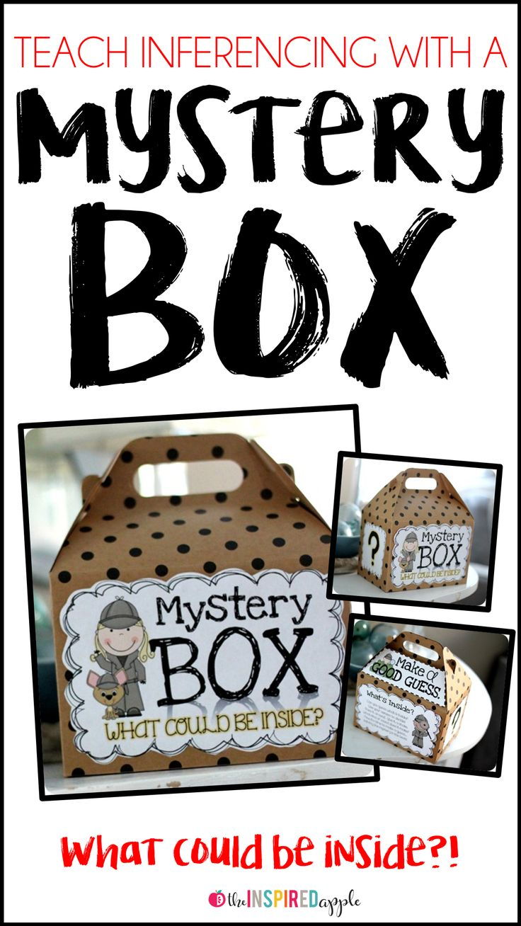 Teachers, using a Mystery Box will help you teach your students about inferencing and will lay the groundwork so that students can infer while reading! This fun and engaging activity will support your teaching of inferences in the kindergarten, first grade, second grade, third grade, fourth grade, or fifth grade classroom!