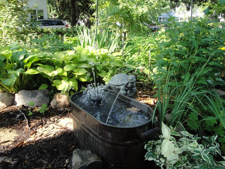 60 best fountain ideas for small gardens images on for Water feature ideas for small gardens
