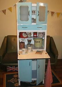 Retro 50s Kitchen Cabinet Vintage Larder Cupboard Pantry 60s