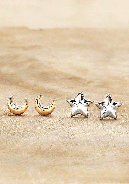 Cute moon and star earrings