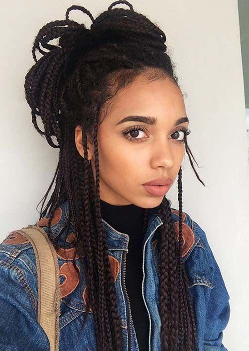 Terrific 1000 Ideas About Black Braided Hairstyles On Pinterest Braided Short Hairstyles Gunalazisus