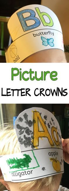 Your students will love learning letters and working on beginning letter sounds with these fun letter picture crowns.