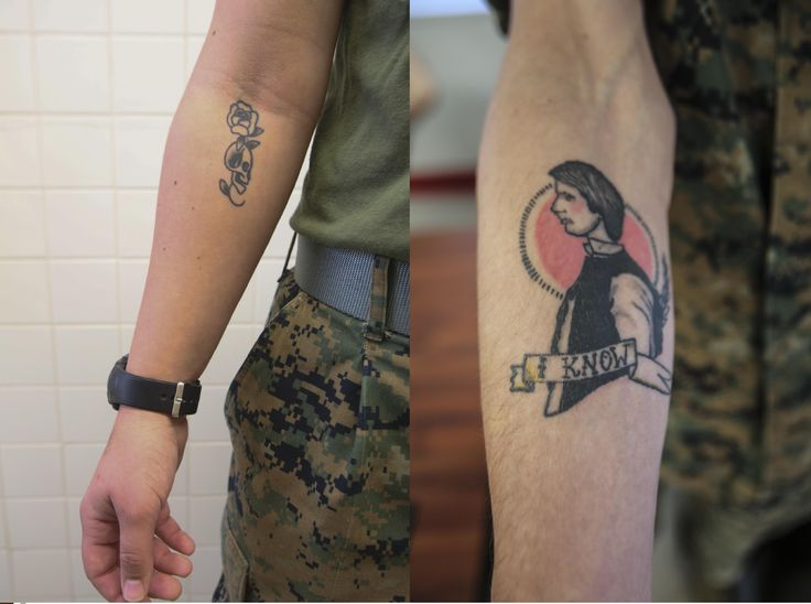 Right to bare arms: Marine Corps new tattoo policy > II Marine ...