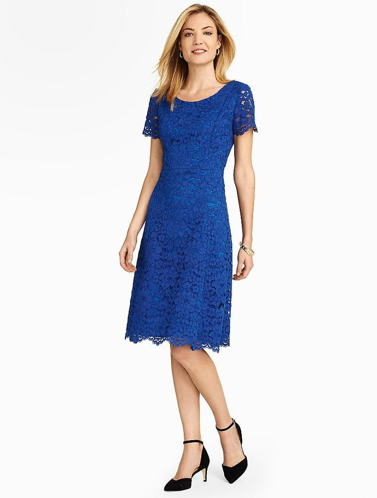 talbots amherst lace fit flare dress dresses my