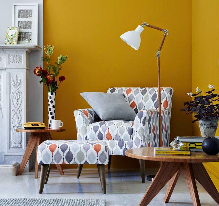 Color mostaza para paredes y decoraci n en interiores - Colores paredes interiores ...
