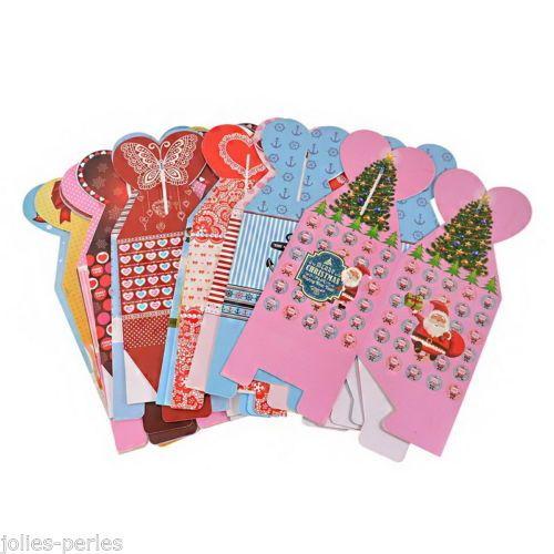 15PCs/Packet Christmas Paper Folding Box Apple Chocolate Gift Box Storage