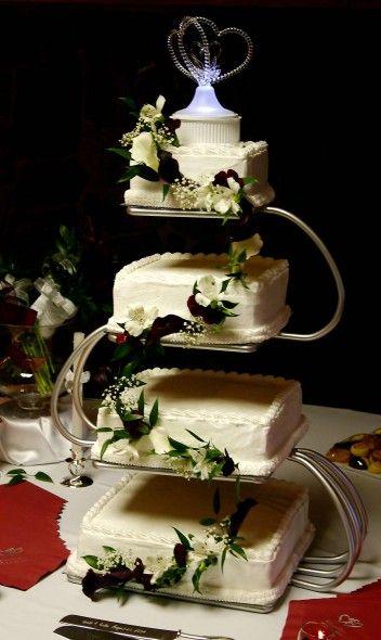 Hochzeitstorte eckig