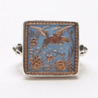 Square Bird Flying Ring – Fusion Art Glass Online Store