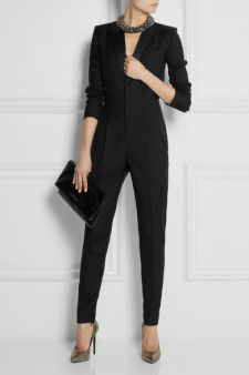 Saint Laurent | Wool-gabardine tuxedo jumpsuit | NET-A-PORTER.COM