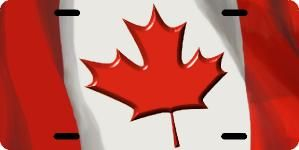 Canada Flag 3D Licence Plates