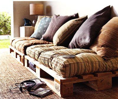 cómodo sofá pallets
