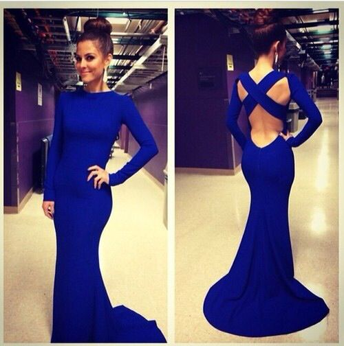 Blue long elegant dress