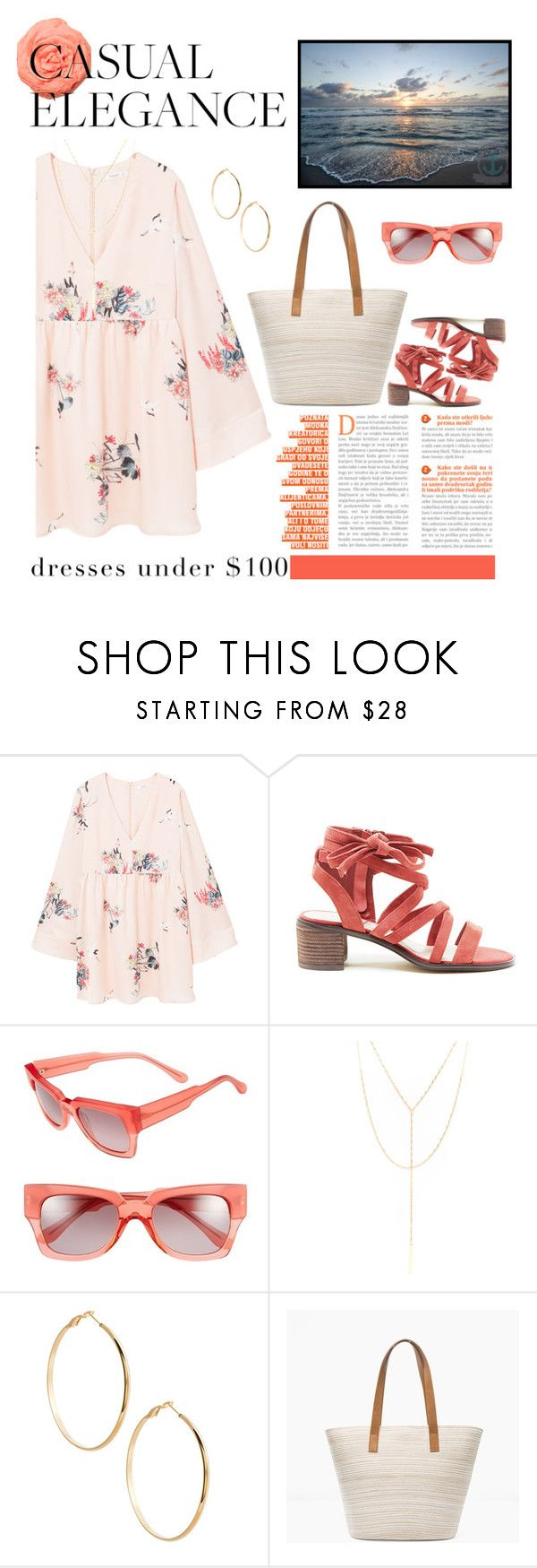 """""""Beach Town"""" by lashanna-bing ❤ liked on Polyvore featuring MANGO, Sole Society, Marni, South Moon Under, GUESS by Marciano and Chico's"""