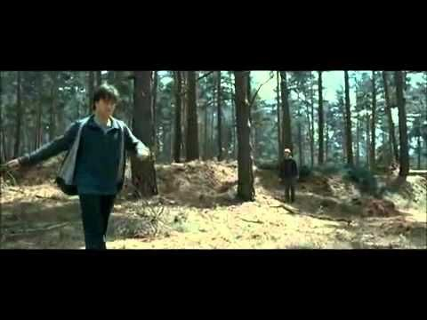 DELETED SCENE of Harry Potter 7 part 1 - Ron and Harry chasing a rabbit in the forest