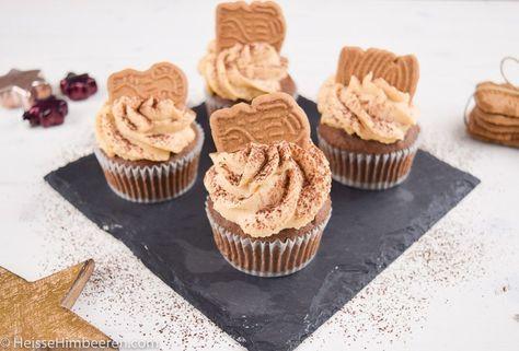 Spektakuläre Schoko-Spekulatius Cupcakes   Heisse Himbeeren