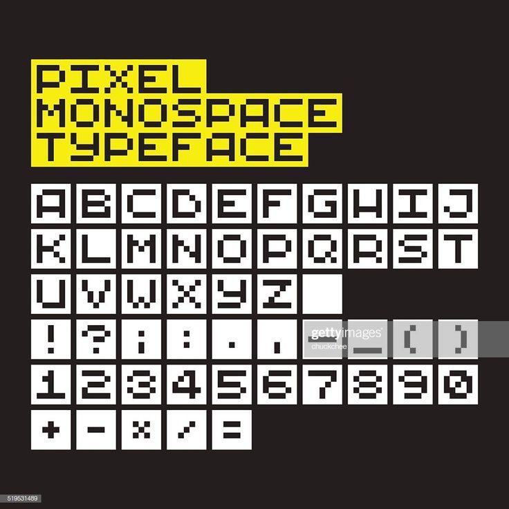 Pixel Art Monospace Alphabet, Numbers And Symbols In 2020