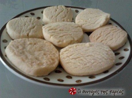Μπισκότα Βουτύρου με 3 υλικά