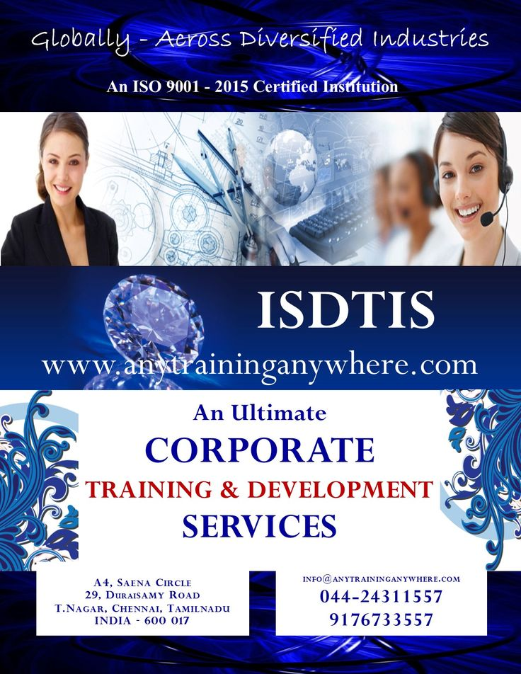 Leading Corporate Training Services                                                                                                                           ISDTIS: www.anytraininganywhere.com / info@anytraininganywhere.com,                                 9176733557 / 044-24311557 https://drive.google.com/file/d/0B-JG42E7oZGnWjFXRnBTMFpla1k/view?usp=sharing