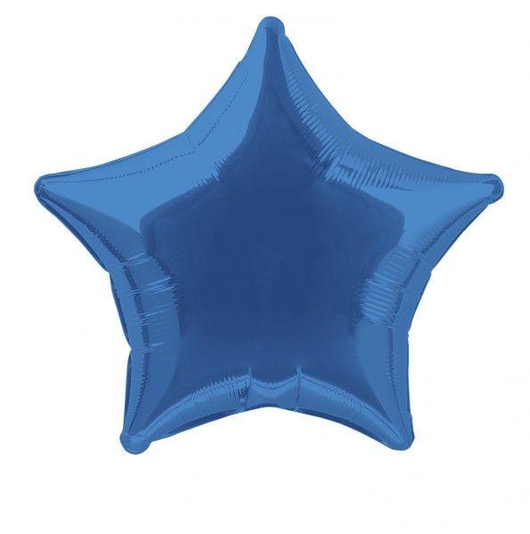 Folienballon Stern Königs Blau