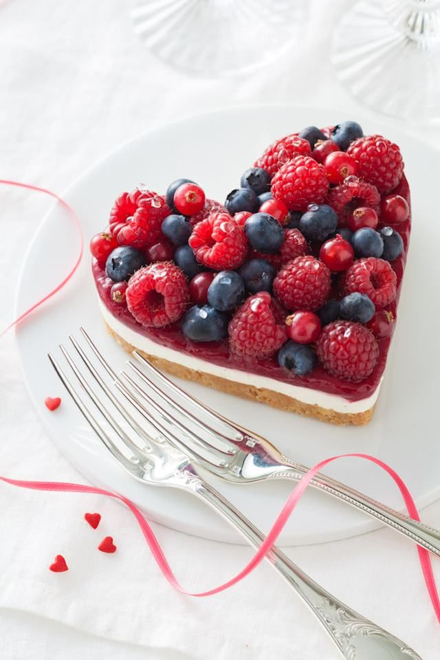 Fruit heart cake.