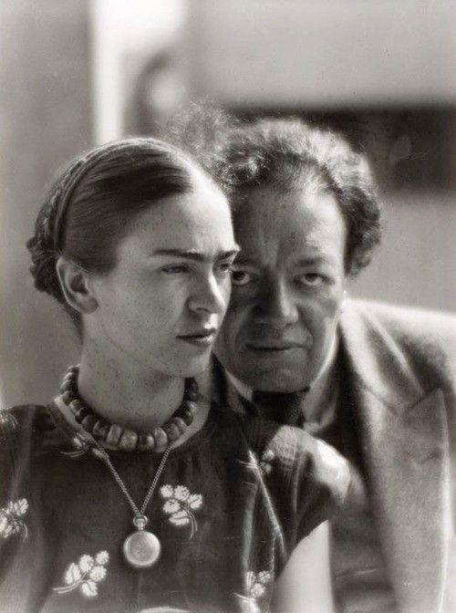 Frida Kahlo and Diego Rivera, Mexico, Martin Munkácsi