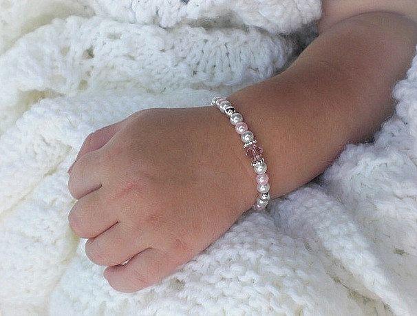 First Pearls Baby BraceletBaby JewelryNewborn by sugarontopjewelry, $17.50