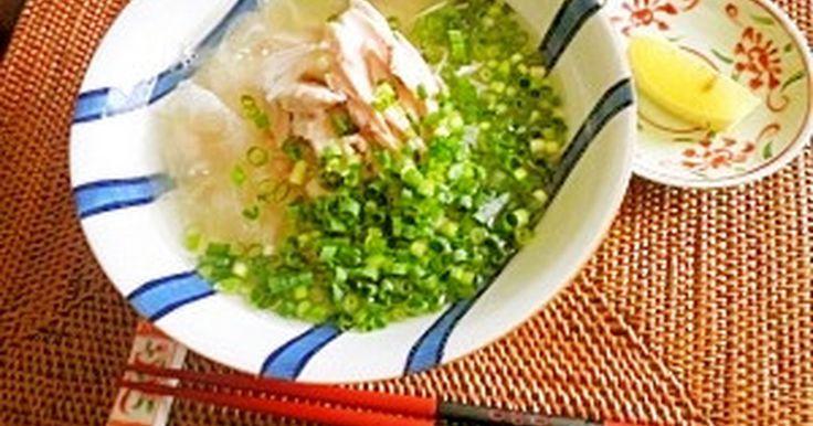【話題入り】人気検索1位☆身近な食材で作る本格フォー。化学調味料不使用で体に優しい手羽先スープは最後の一滴まで飲めます♪