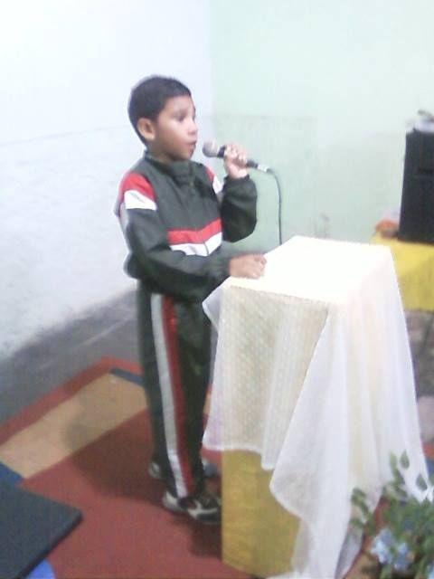 João Vitor,participando do evento.