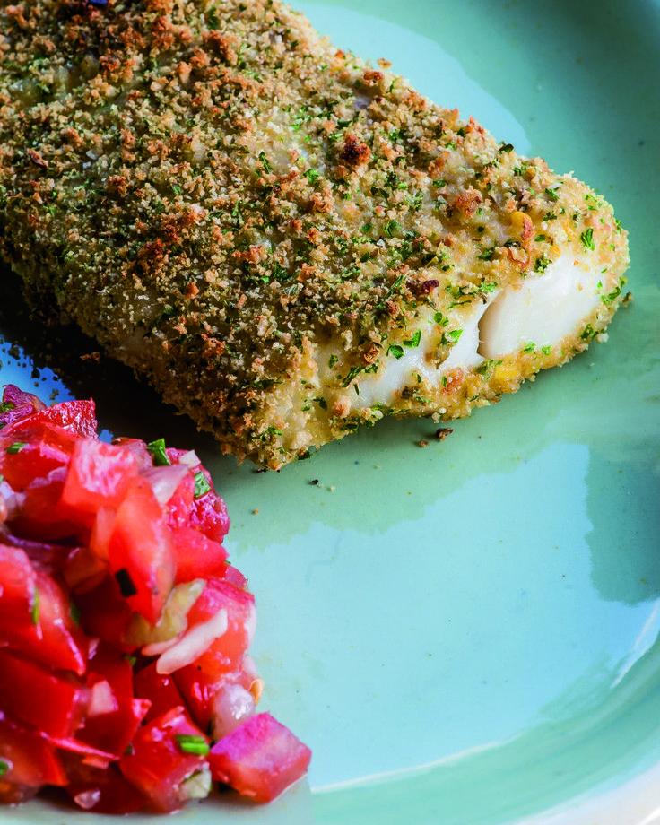 Lekker en snel visgerecht met heekfilet in kruidenkorst. Lekker als lunch of…