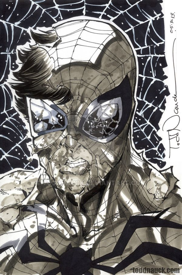 """Battle Ravaged Superior Spider-Man... to reveal Doctor Octopus under the mask?!? This is the sketch prize choice of the winner of my Phoenix Comicon 2013 """"Sketch Retweet Contest"""" I run on Twitter d..."""