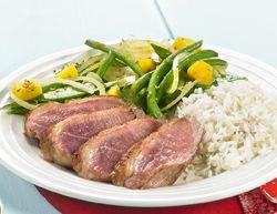 Eend met groene groentjes en rijst » Colruyt Culinair