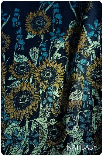 Natibaby Sunflowers Woven Wrap is part of Natibaby's Van Gogh series.  These are on the way and are available as a pre-order! They will ship as soon as they a