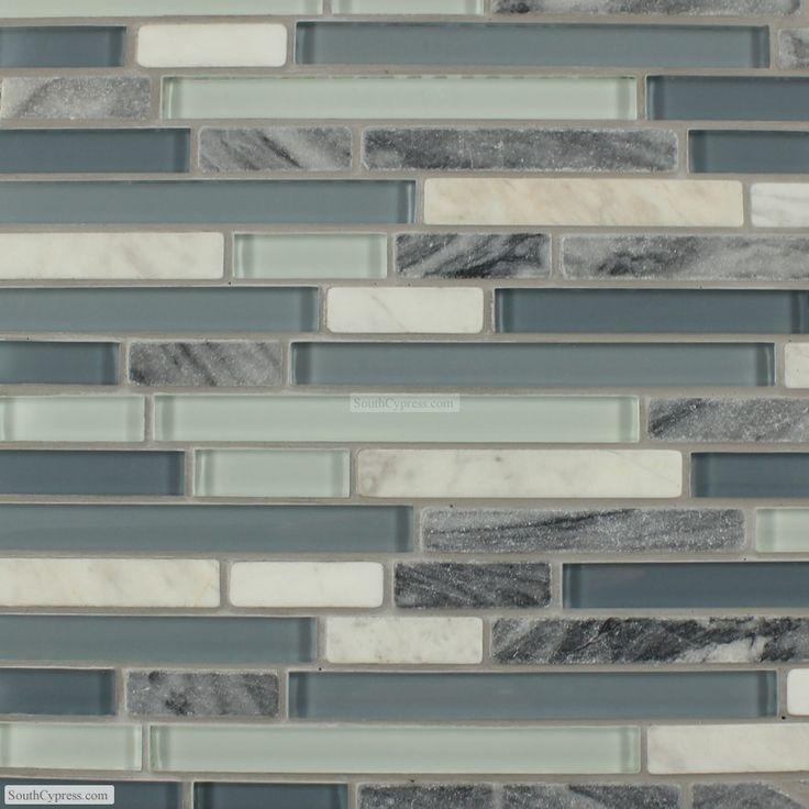 1037 Best Backsplash Tile Images On Pinterest: Kitchen Backsplash - Glass And Stone Mosaic Tiles
