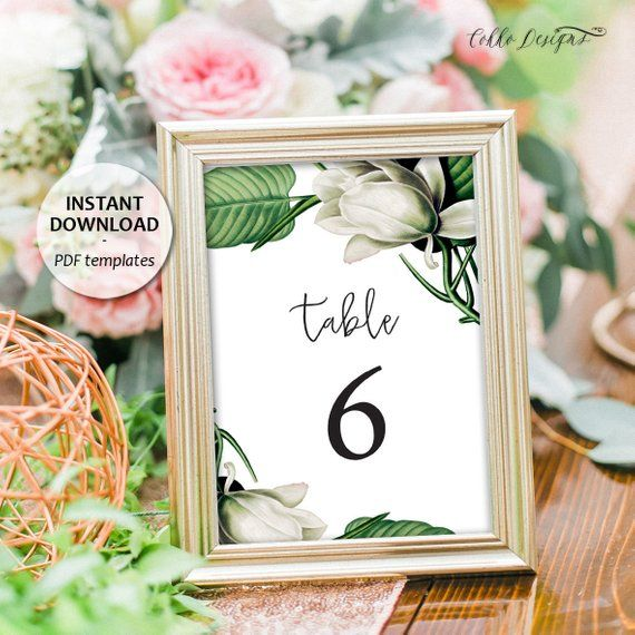 Magnolia Table Numbers 1-30, Instant Download, Printable ...