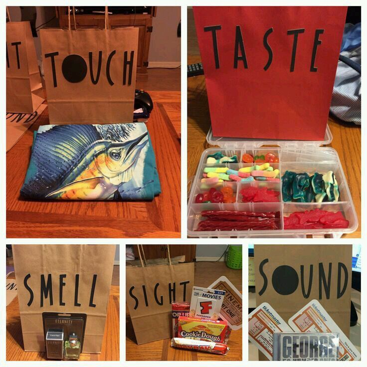 5: touch, taste, smell, sight, sound.                                                                                                                                                                                 More