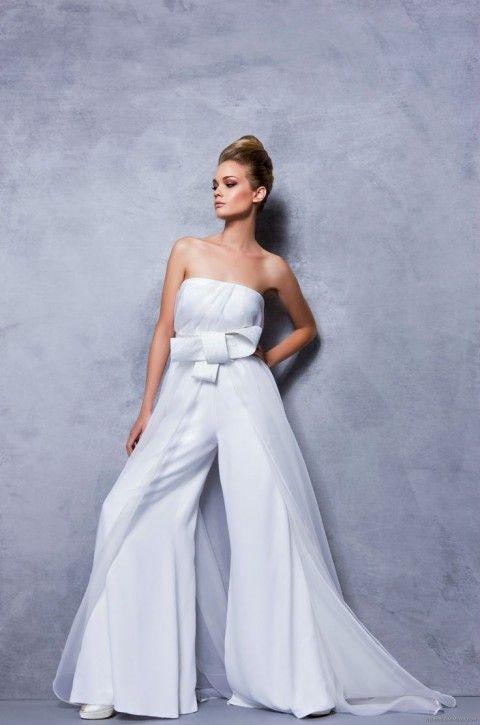2014 wedding trend 53 elegant bridal pantsuits