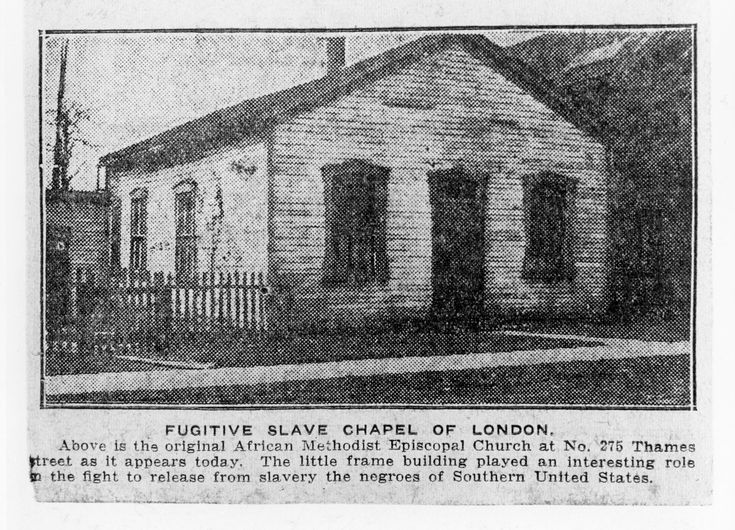 London Ontario Methodist Church which played part in freeing of slaves