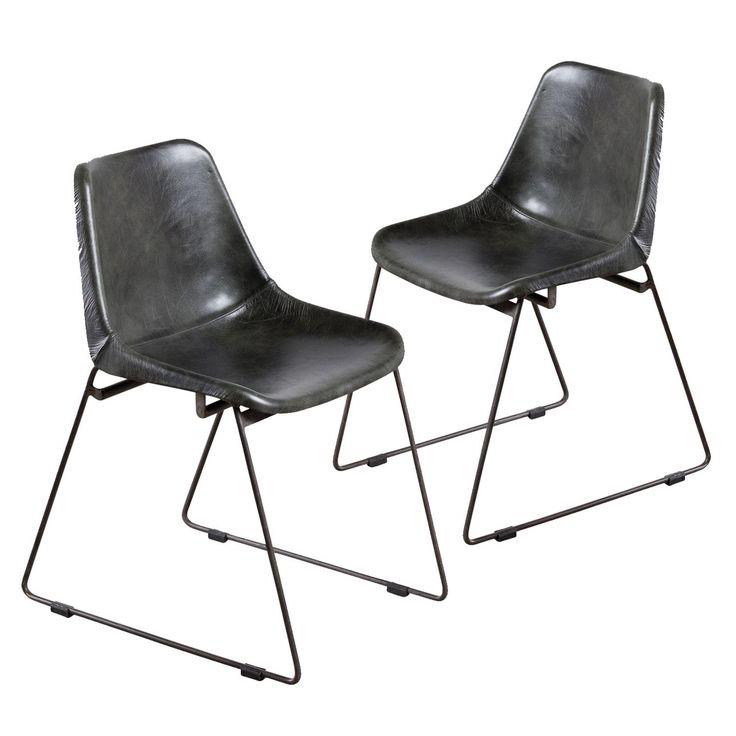 Handmade Water Buffalo Bucket Chair - Charcoal