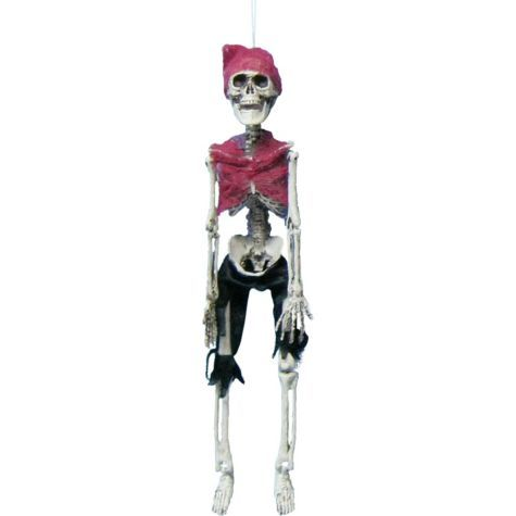 pirate skeleton prop party city 18in fabric plastic skeleton sku 447287 price - Skeleton Decorations