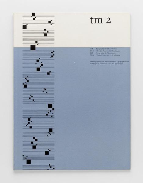 TM Typographische Monatsblätter, issue 2, 1957.  Cover designer: Albert Gomm